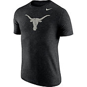 Nike Men's Texas Longhorns Heathered Black Tri-Blend Stamp T-Shirt