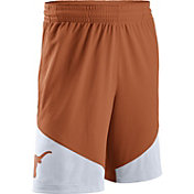 Nike Men's Texas Longhorns Burnt Orange/White New Classics ELITE Basketball Shorts