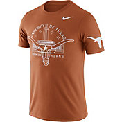 Nike Men's Texas Longhorns Burnt Orange Enzyme Washed College Campus Elements T-Shirt