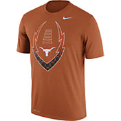 Nike Men's Texas Longhorns Burnt Orange Football Icon Legend T-Shirt