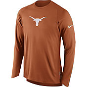 Nike Men's Texas Longhorns Burnt Orange ELITE Shooter Long Sleeve Shirt