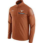 Nike Men's Texas Longhorns Burnt Orange Elite Coaches Half-Zip Shirt