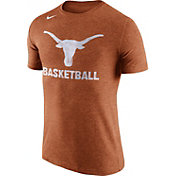 Nike Men's Texas Longhorns Burnt Orange Basketball Tri-Blend T-Shirt