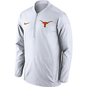 Nike Men's Texas Longhorns Lockdown White Half-Zip Performance Jacket