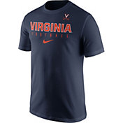 Nike Men's Virginia Cavaliers Blue Football Practice T-Shirt