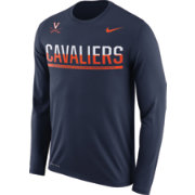 Nike Men's Virginia Cavaliers Blue Staff Sideline Long Sleeve Shirt