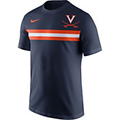 Nike Men's Virginia Cavaliers Blue Team Stripe Football T-Shirt
