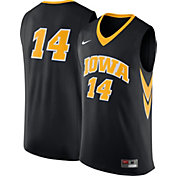 Nike Men's Iowa Hawkeyes Black #14 Replica Basketball Jersey