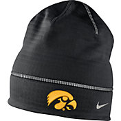 Nike Men's Iowa Hawkeyes Champ Drive Black Fleece Beanie