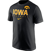 Nike Men's Iowa Hawkeyes Football Practice Black T-Shirt
