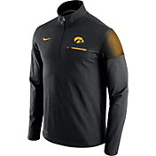 Nike Men's Iowa Hawkeyes Elite Coaches Black Half-Zip Shirt
