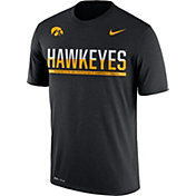Nike Men's Iowa Hawkeyes Legend Staff Sideline Black T-Shirt