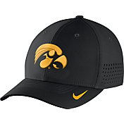 Nike Men's Iowa Hawkeyes Black Vapor Sideline Swoosh Flex Hat