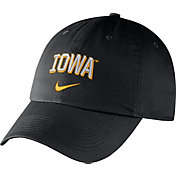 Nike Men's Iowa Hawkeyes Heritage86 Black Wordmark Swoosh Flex Hat