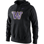 Nike Men's Washington Huskies Black Classic Logo Hoodie