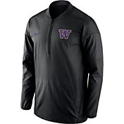 Nike Men's Washington Huskies Lockdown Black Half-Zip Performance Jacket