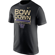 Nike Men's Washington Huskies 'Bow Down' Local Verbiage Black T-Shirt