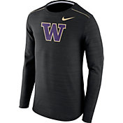 Nike Men's Washington Huskies Player Black Dri-FIT Touch Performance Long Sleeve Shirt