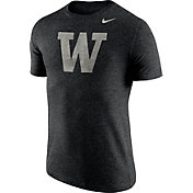 Nike Men's Washington Huskies Heathered Black Tri-Blend Stamp T-Shirt