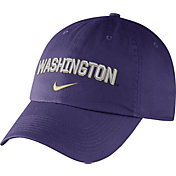 Nike Men's Washington Huskies Purple Heritage86 Wordmark Swoosh Flex Hat