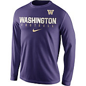 Nike Men's Washington Huskies Purple Football Practice Long Sleeve Shirt