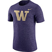Nike Men's Washington Huskies Purple Marled Logo T-Shirt