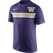 Nike Men's Washington Huskies Purple Team Stripe Football T-Shirt