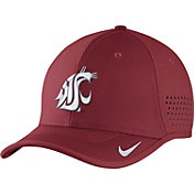 Nike Men's Washington State Cougars Crimson Vapor Sideline Coaches Hat