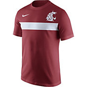 Nike Men's Washington State Cougars Crimson Team Stripe Football T-Shirt