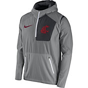 Nike Men's Washington State Cougars Grey Speed Fly Rush Football Jacket