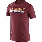 Nike Men's Iowa State Cyclones Cardinal Basketball Practice Legend T-Shirt