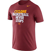 Nike Men's Iowa State Cyclones Cardinal Basketball Team T-Shirt