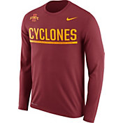 Nike Men's Iowa State Cyclones Cardinal Staff Sideline Long Sleeve Shirt