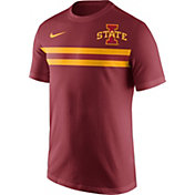 Nike Men's Iowa State Cyclones Cardinal Team Stripe Football T-Shirt