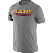 Nike Men's Iowa State Cyclones Grey Basketball Practice Legend T-Shirt