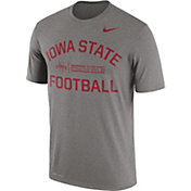 Nike Men's Iowa State Cyclones Grey Lift Football Legend T-Shirt