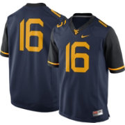 Nike Men's West Virginia Mountaineers #16 Blue Limited Football Jersey