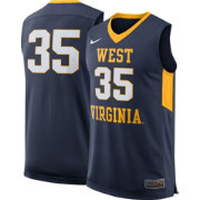 Nike Men's West Virginia Mountaineers #35 Blue Replica ELITE Basketball Jersey