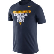 Nike Men's West Virginia Mountaineers Blue Basketball Team T-Shirt