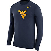 Nike Men's West Virginia Mountaineers Blue March Basketball Performance Long Sleeve Shirt