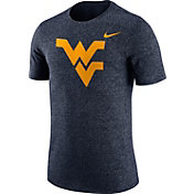 Nike Men's West Virginia Mountaineers Blue Marled Logo T-Shirt