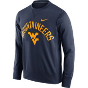 Nike Men's West Virginia Mountaineers Blue Circuit Crew Sweatshirt