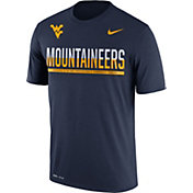 Nike Men's West Virginia Mountaineers Blue Legend Staff Sideline T-Shirt