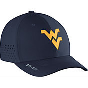 Nike Men's West Virginia Mountaineers Blue Vapor Sideline Swoosh Flex Hat