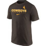 Nike Men's Wyoming Cowboys Brown Football Practice T-Shirt