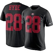 Nike Men's San Francisco 49ers Carlos Hyde #28 Pride Black T-Shirt