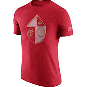 Nike Men's San Francisco 49ers Tri-Blend Historic Logo Red T-Shirt