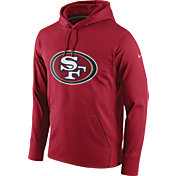 Nike Men's San Francisco 49ers Performance Circuit Logo Essential Red Hoodie