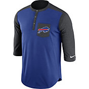 Nike Men's Buffalo Bills Dri-FIT Touch Henley Royal Three-Quarter Sleeve Shirt