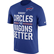 Nike Men's Buffalo Bills 'Nobody Circles the Wagons Better' Performance Royal T-Shirt